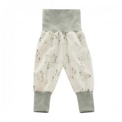 LIVING CRAFTS - Bio Baby Jerseyhose mit Igel-Motiv