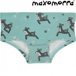 Maxomorra - Bio Kinder Panty mit Rentier-Motiv