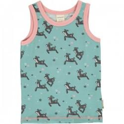 Maxomorra - Bio Kinder Unterhemd mit Rentier-Motiv