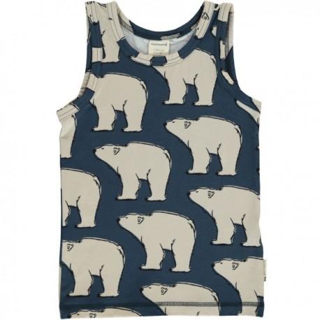 Maxomorra - Bio Kinder Unterhemd mit Polarbär-Motiv