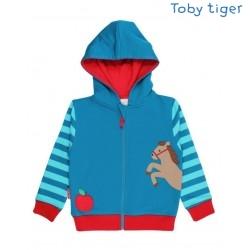 Toby tiger - Bio Kinder Sweatjacke mit Pferde-Motiv und Kapuze