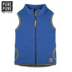 pure pure by BAUER - Bio Kinder Fleece Weste , Wolle, nautic