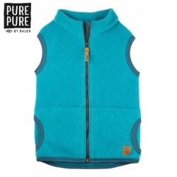 pure pure by BAUER - Bio Kinder Fleece Weste , Wolle, pagoda