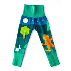 merle kids - Bio Kinder Leggings mit Yeti-Motiv