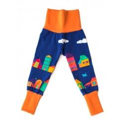 merle kids - Bio Kinder Leggings mit Nachtstadt-Motiv