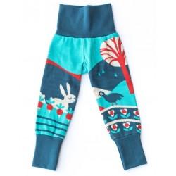 merle kids - Bio Kinder Strick Leggings mit Hasen-Motiv, blau