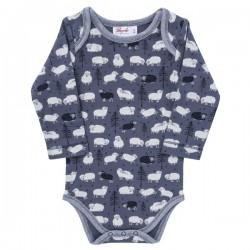 People Wear Organic - Bio Baby Body langarm mit Schaf-Allover