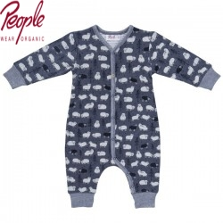 People Wear Organic - Bio Baby Strampler mit Schaf-Allover