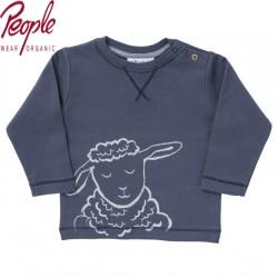 People Wear Organic - Bio Baby Langarmshirt mit Schaf-Motiv