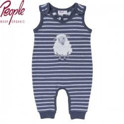 People Wear Organic - Bio Baby Strampler mit Schaf-Motiv und Streifen