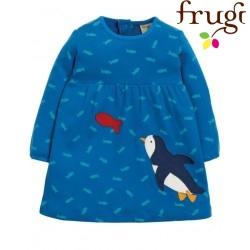 """frugi - Bio Baby Kleid """"Dolcie"""" mit Pinguin und Fischen"""
