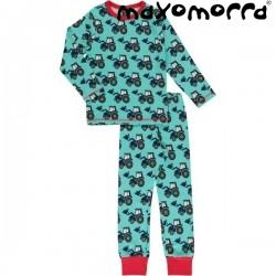 Maxomorra - Bio Kinder Schlafanzug mit Traktor-Motiv