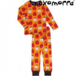 Maxomorra - Bio Kinder Schlafanzug mit Apfel-Motiv