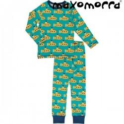 Maxomorra - Bio Kinder Schlafanzug mit Submarine-Motiv