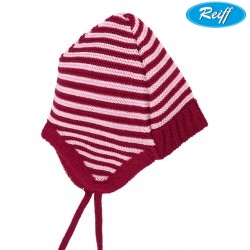 Reiff - Bio Baby Mütze Wolle beere/rosa