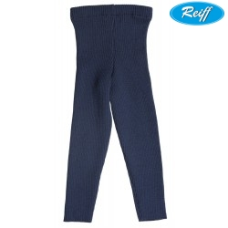 Reiff - Bio Kinder Strick Leggings Wolle marine