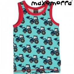 Maxomorra - Bio Kinder Unterhemd mit Traktor-Motiv