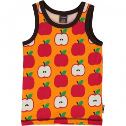 Maxomorra - Bio Kinder Unterhemd mit Apfel-Motiv