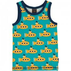 Maxomorra - Bio Kinder Unterhemd mit Submarine-Motiv