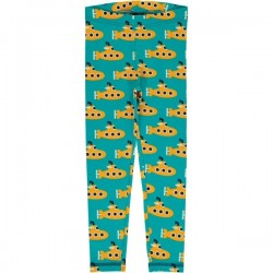 Maxomorra - Bio Kinder Leggings mit Submarine-Motiv