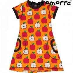 Maxomorra - Bio Kinder Jersey Kleid mit Apfel-Motiv