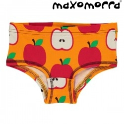 Maxomorra - Bio Kinder Panty mit Apfel-Motiv