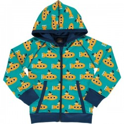 Maxomorra - Bio Kinder Sweatshirt mit Submarine-Motiv