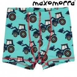 Maxomorra - Bio Kinder Hipshorts mit Traktor-Motiv