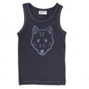 People Wear Organic - Bio Kinder Unterhemd mit Wolf-Druck