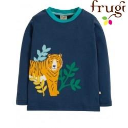 """frugi - Bio Kinder Langarmshirt """"Adventure"""" mit Tiger-Motiv"""