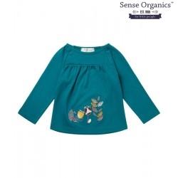 "Sense Organics - Bio Baby Langarmshirt ""Adsila"" mit Blätter-Motiv"