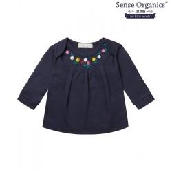 """Sense Organics - Bio Baby Langarmshirt """"Luisa"""" mit Blumen-Stickerei"""