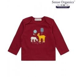 """Sense Organics - Bio Baby Langarmshirt """"Timber"""" mit Reh-Motiv"""