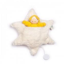 Nanchen Natur - Bio Baby Sternenspieluhr mit Sternlein, 23cm