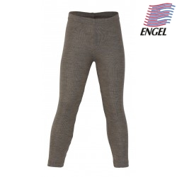 ENGEL - Bio Kinder Leggings, Wolle/Seide, walnuss