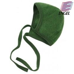 ENGEL - Bio Baby Fleece Mütze, Wolle, grün