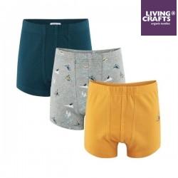 LIVING CRAFTS - Bio Kinder Shorts 3er Pack