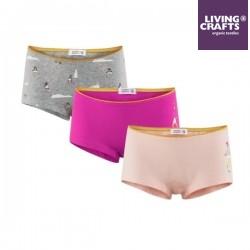 LIVING CRAFTS - Bio Kinder Panty 3er Pack