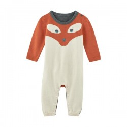 "LIVING CRAFTS - Bio Baby Strick Strampler ""Fuchs"""