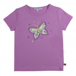 Enfant Terrible - Bio Kinder T-Shirt mit Schmetterlings-Applikation