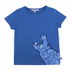 Enfant Terrible - Bio Kinder T-Shirt mit Nilpferd-Motiv
