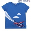 Enfant Terrible - Bio Kinder T-Shirt mit Flugzeug-Motiv
