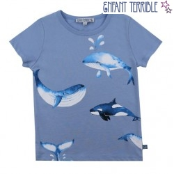 Enfant Terrible - Bio Kinder T-Shirt mit Wal-Motiv