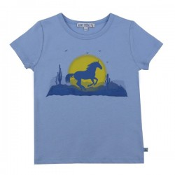 Enfant Terrible - Bio Kinder T-Shirt mit Pferde-Motiv,