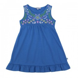 Enfant Terrible - Bio Kinder Jersey Kleid mit Stickerei, blau