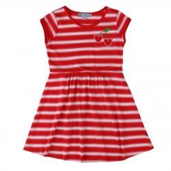 Enfant Terrible - Bio Kinder Jersey Kleid mit Kirschen-Motiv