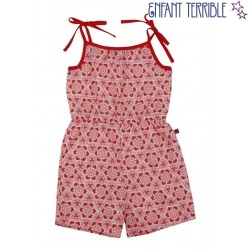Enfant Terrible - Bio Kinder Jumpsuit mit Mosaik-Muster