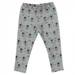Pigeon - Bio Kinder Leggings mit Eskimo-Motiv, blau