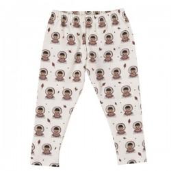 Pigeon - Bio Kinder Leggings mit Eskimo-Motiv, weiß