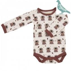 Pigeon - Bio Baby Body mit Inuit-Motiv, weiß
